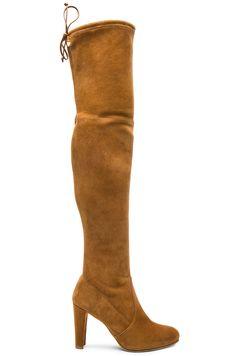STUART WEITZMAN Suede Highland Boots. #stuartweitzman #shoes #