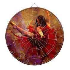 Dance More, Dancer in Red Dress Dart Board #decor #gifts