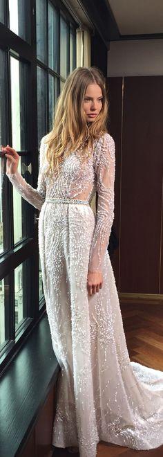 BERTA Long Sleeves Wedding Dress | Deer Pearl Flowers / http://www.deerpearlflowers.com/wedding-dress-inspiration/berta-long-sleeves-wedding-dress/