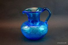 Clevenger Brothers Glass Works Blue Daisy by soflacollectors86, $21.00