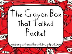 "Freebie packet for ""The Crayon Box That Talked"". Great book for MLK day"