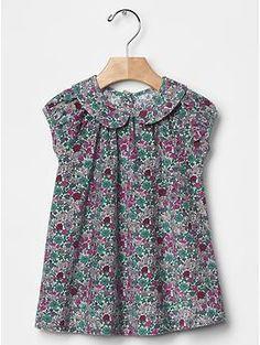Floral cord dress