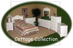 The White Cottage wicker bedroom collection by Schober.