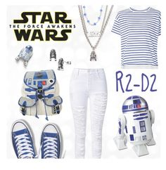 """""""Star Wars: R2-D2"""" by paula008 ❤ liked on Polyvore featuring Sacai, ThinkGeek, R2, starwars, contestentry and theforceawakens"""