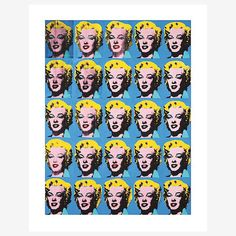 My design inspiration: Warhol—25 Colored Marilyns on Fab.