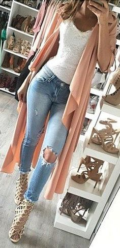Apricot Trench + Basics                                                                             Source