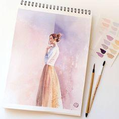 Watercolorist: @seanastya #waterblog #акварель #aquarelle #drawing #art #artist #artwork #painting #illustration #watercolor #aquarela
