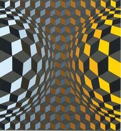 Victor Vasarely, #art #abstract #Vassarely
