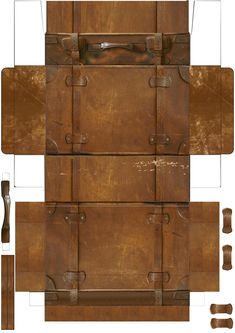 Vintage suitcase... scale down to size and print on card stock.  Cut out, fold, glue tabs, add 3D handles, and done...