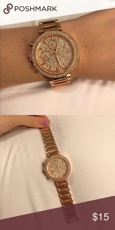 Rose Gold Watch Super cute rose gold watch. Only have worn a few times! Has adjustable links to fit any size!! Accessories Watches