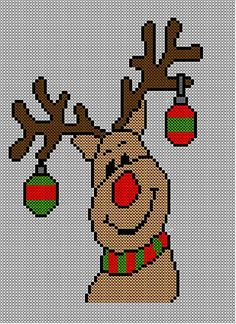 Christmas Rudolph Reindeer Jumper / Sweater Knitting Pattern #26.