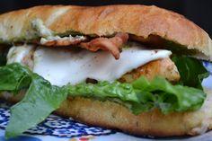 Pan Seared Chicken Sandwiches w/ Pesto Mayonnaise