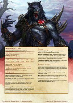 Risultati immagini per werewolf dnd Dungeons And Dragons Classes, Dungeons And Dragons Characters, Dungeons And Dragons Homebrew, Monster Characters, Dnd Characters, Dnd Stats, Dnd Dragons, Dnd Races, Dnd 5e Homebrew