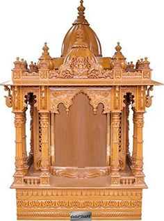 Teak Wood Big Carved Temple Home Pooja in USA - 280814_3053 - Teak ...