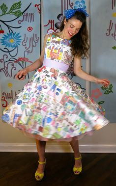 DIY: A Coloring Book Dress (Cassie Stephens)