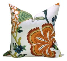 Schumacher Hot House Flowers pillow cover in Spark  by sparkmodern