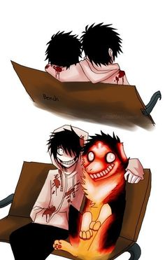 Smile dog and Jeff the Killer ^~^