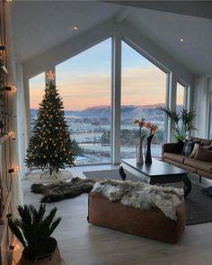 Living Room Ideas 2019, Living Room Decor, Christmas Living Rooms, Christmas Home, Xmas, Winter Living Room, Cozy Living, Christmas Holidays, Home Interior Design