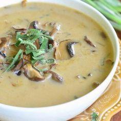 Best Mushroom Soup, Creamy Mushroom Soup, Mushroom Gravy, Some Mores Recipe, Stuffed Mushrooms, Stuffed Peppers, Stuffed Shells, Macaroni Salad, Turkey Burgers