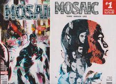 Mosaic #1,2 (Vol.1,2017,Marvel)Set, INHUMANS Tie-In