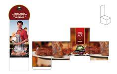 Maqueta buzon para cupones promocion asado para 10 camposorno