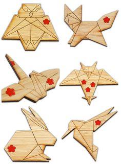 My Owl Barn: Origami Brooch