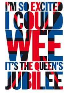Cheeky Jubilee tea towel. Can you see a union jack? House of Holland