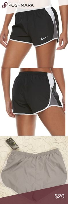 Nike Dry-Fit shorts - Medium NWT super light, dry fit Nike shorts. Light gray with light pink/blush color mesh on both sides. Smoke/pet free home Nike Shorts
