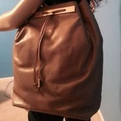 I just discovered this while shopping on Poshmark: CARBOTTI BROWN ITALIAN LEATHER BACKPACK HANDBAG. Check it out!  Size: Large