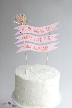 Cool Birthday Cake Topper