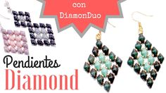 Tutorial Pendientes Diamond con cuentas DiamonDuo