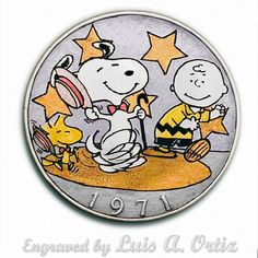 Snoopy's Dance Off Ike Hobo Nickel Pinup Colored& Engraved by Luis A Ortiz Hobo Nickel, Hand Engraving, Pinup, Hand Carved, Coins, Rest, Snoopy, Carving, Dance