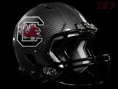Cool Helmet Gamecocks Football, College Football Helmets, South Carolina Gamecocks, Carbon Fiber, Gadgets, Gadget