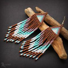Украшения из бисера от Anabel: Оригинальные серьги из бисера в этно-стиле