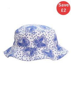 View details of Mothercare Indigo Butterfly Fisherman Hat