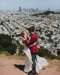 San Francisco hilltop wedding