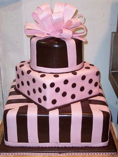 cute party cake...maybe not wedding cake?