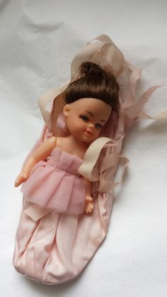 Vintage doll, ballerina doll, vintage ballet shoes, vintage toy, retro ornament, girls room wall decoration, - pinned by pin4etsy.com