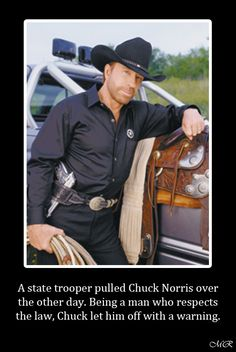 Chuck Norris let him off with a warning.