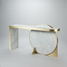Lara Bohinc Collision Console. #Marble #furniture by Lapicida.com
