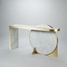 Lara Bohinc Collision Console.   #Marble #furniture by Lapicida.com