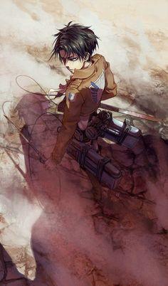 "Shingeki No Kyojin | Levi ""Who's Next?"" drawn by Tervola on tumblr.com"