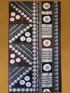 "half square triangles Fijian motifs on Tapa or as we say in Fijian 'Masi"""