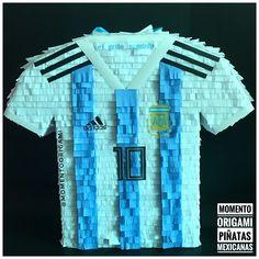 #piñata #piñatamexicana #argentina #seleccionfutbol #MomentoOrigami #camiseta #futbol #rusia2018