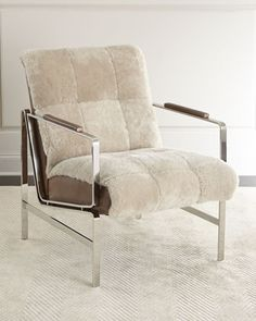 Paz+Shearling+Chair+by+Massoud+at+Horchow.