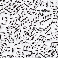 Music note material for pillows and such