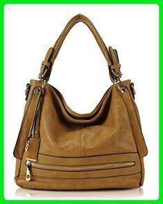 c7514b1cd7b3 Scarleton Fashionable Front Zipper Hobo Bag H171314 - Khaki - Hobo bags  ( Amazon Partner