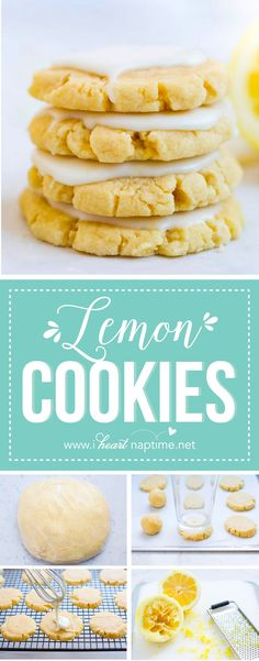 Glazed lemon cookies recipe - a soft baked sugar cookie topped with a fresh lemon glaze. These will melt in your mouth!