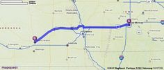 Driving Directions from Des Moines, Iowa to Grand Island, Nebraska | MapQuest