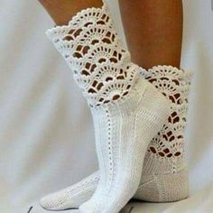 Sweet Crocheted Socks